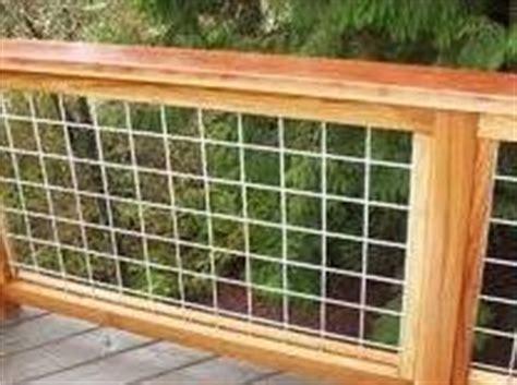 stock panel railing wire fences railings pinterest decks railings  deck railings