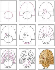 draw and paint a turkey projects for