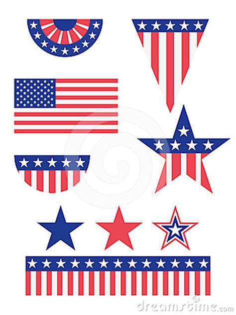 american flag decorations stock images image