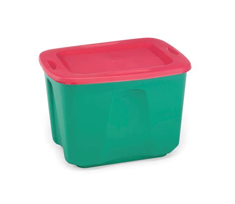 homz  gallon holiday storage tote redgreen home