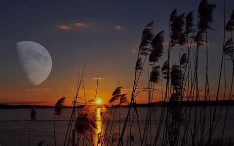Wo Geht Die Sonne Unter Himmelsrichtung by Die Sonne Geht Unter Der Mond Geht Auf Foto