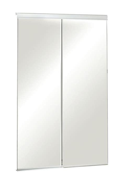 veranda 60 inch frameless mirrored sliding door the home