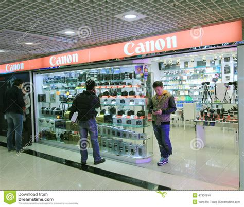 canon shop in hong kong editorial image image of hong