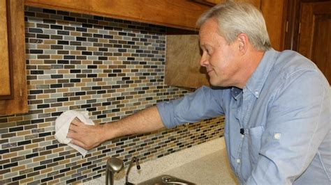 how to install glass mosaic tile backsplash in kitchen how to install a mosaic tile backsplash today 39 s homeowner