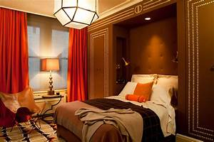 orange curtains contemporary boy39s room amanda With brown and orange bedroom ideas