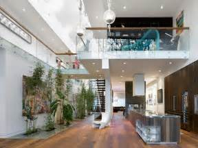 Home Interior Decorating Modern Custom Home With Central Atrium And Interior Bamboo Garden Idesignarch Interior
