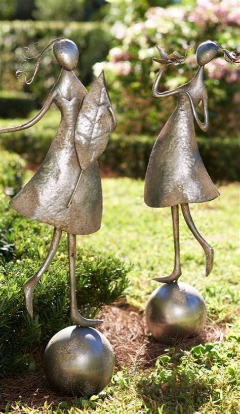 Garten Herbst Setzen by Fr 246 Hliche Abstrakte Figuren M 228 Nnchen Aus Metall