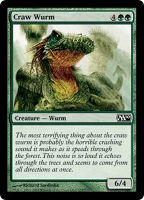 Mtg Green Wurm Deck by Craw Wurm Magic 2010 Gatherer Magic The Gathering