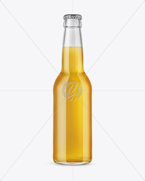 Free psd mockups templates for: 330ml Clear Glass Bottle with Lager Beer Mockup in Bottle ...