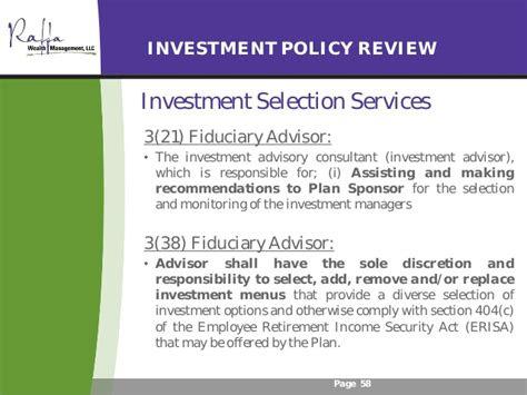 erisa section 404 c 2016 11 01 fiduciary compliance for retirement plan sponsors
