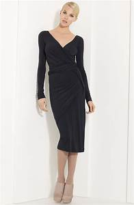 Dressing New York : donna karan new york collection draped jersey dress in gray anthracite lyst ~ Dallasstarsshop.com Idées de Décoration