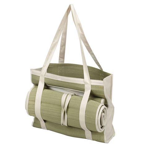 eco friendly straw tote bag  roll  picnic mat hansonelliscom