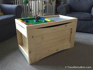 Coffre Jouet Bois : coffre jouets multifonctions par travaillerlebois sur l 39 air du bois ~ Teatrodelosmanantiales.com Idées de Décoration