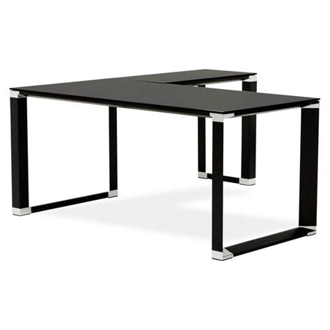 bureau angle design corner master black glass office