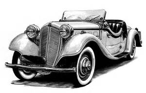 Old Classic Car Drawing