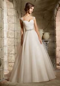 asymmetrically draped bodice on tulle morilee bridal With bodice wedding dress