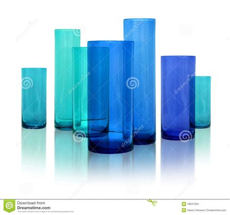 Treppengeländer Modern Glas by Modern Blue Glass Vases Stock Images Image 18037594