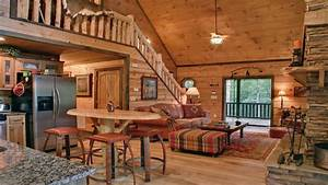 Rustic small cabin interior small log cabin interior for Log homes interior designs 2