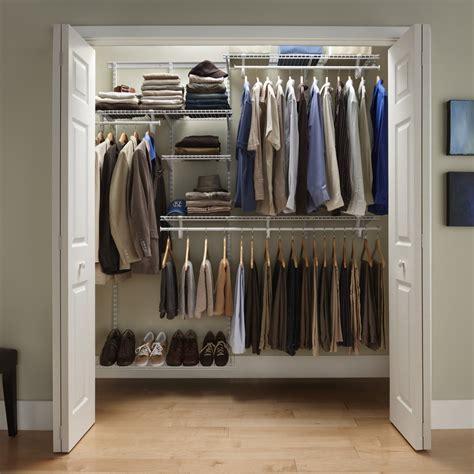 closetmaid shelftrack   ft closet organizer kit white