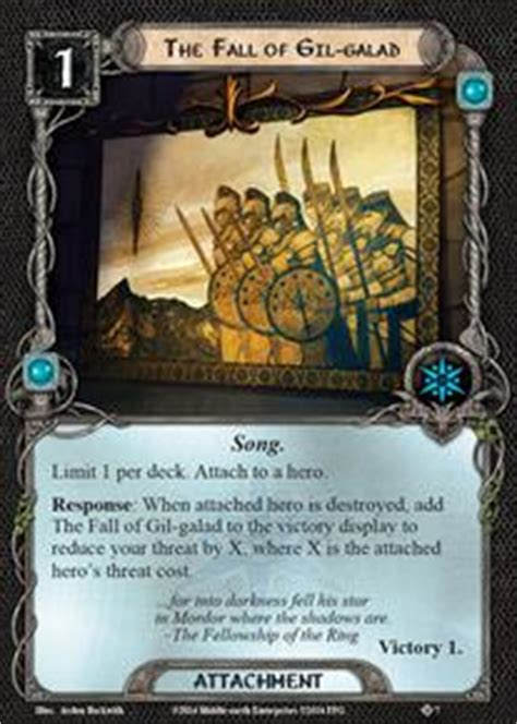 lotr lcg deck builder the fall of gil galad the dunland trap lord of the
