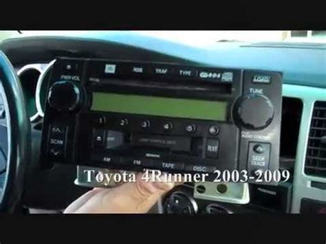 security system 2003 toyota 4runner parking system toyota 4runner stereo removal 2003 2009 youtube