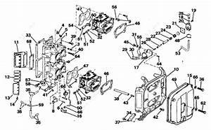 Evinrude 1988 88 - E88mslccc  Intake Manifold