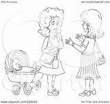 Coloring Outline Clipart Chatting Baby Royalty Illustration Rf Bannykh Alex Clipground sketch template