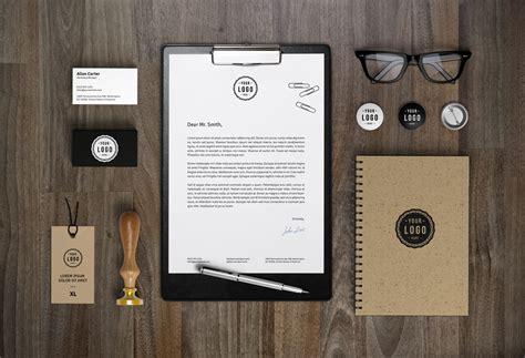 branding identity mockup vol graphicburger
