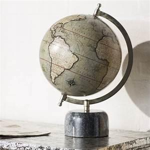 Trent Austin Design U00ae Globe Terrestre Avec Base En Marbre