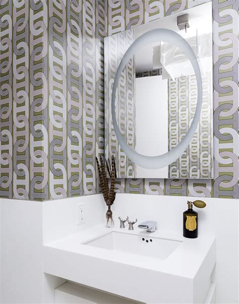 Designer Bathroom Wallpaper by Create A Cozy Modern Bathroom On A Budget