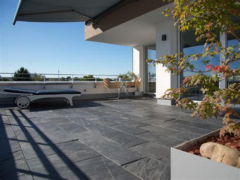 Mit Dachterrasse by Dachterrasse Mit Schieferplatten Black Rustic