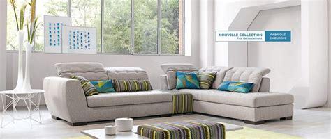 cuir center alba canapé panoramique en tissu dossiers
