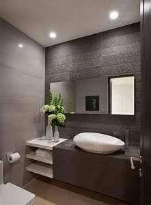Meuble Salle De Bain Moderne : id e d coration salle de bain fleurs dans la salle de ~ Nature-et-papiers.com Idées de Décoration