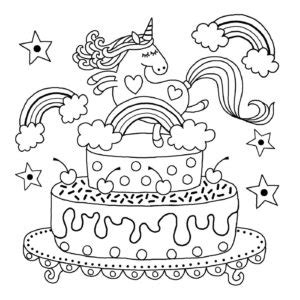 printable unicorn colouring pages  kids buster childrens books