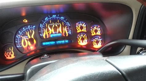 chevrolet silverado flame gauge face led youtube