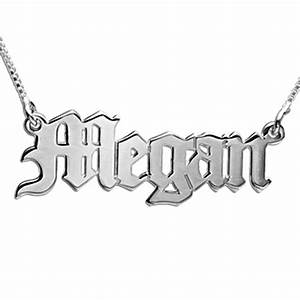 old english style gothic name necklace mynamenecklace With gothic letter name necklace