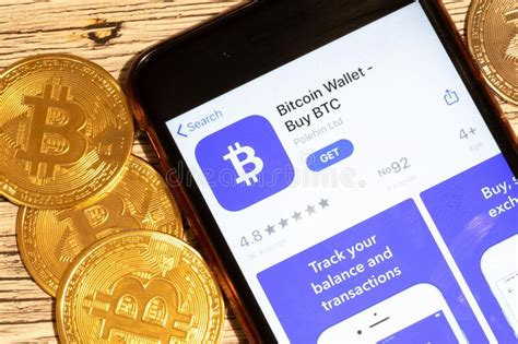 Cryptocurrency machine is installed at citgo gas station in st. Saint-Petersburg, Russia - 10 January 2020: Phone Screen With Bitcoin Wallet App Logo Close Up ...