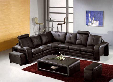 canape d angle cuire deco in canape d angle en cuir marron avec appuie tete relax havane angle gauche havane