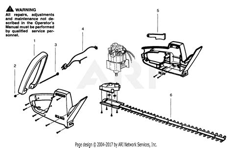 Eater Diagram by Poulan Eht14 Electric Hedgetrimmer Parts Diagram For