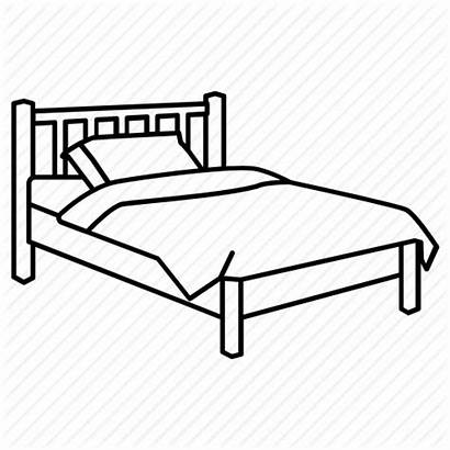 Bed Clipart Drawing Bedroom Single Icon Coloring