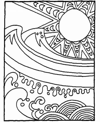 Coloring Summer Pages Fun