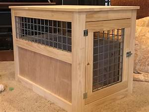 xl dog crate table diy dog crate hack midwest wooden dog With xl dog crate end table