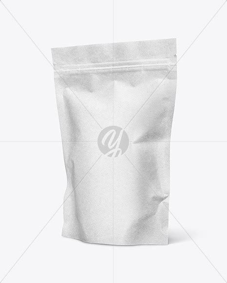 Clear plastic rice bag mockup. Kraft Paper Stand Up Pouch Mockup in Pouch Mockups on ...