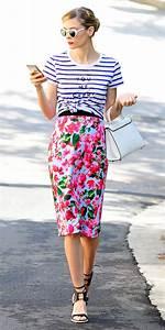 Pencil Midi Mini Floral Skirt Design u2013 Designers Outfits Collection