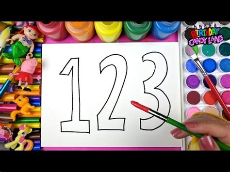 drawing  numbers  coloring  paint  kids