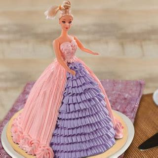 send barbie floral dress cake   india  indiagiftin