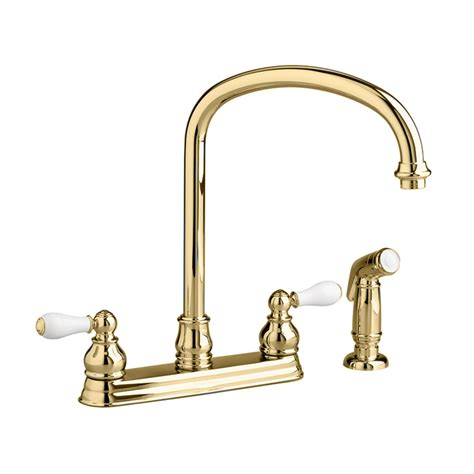 kitchens faucet moen polished brass kitchen faucets