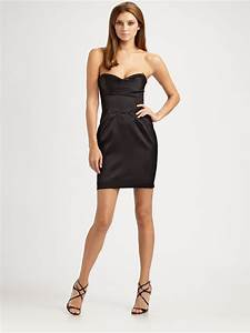 Bcbgmaxazria Strapless Sweetheart Mini Dress in Black | Lyst