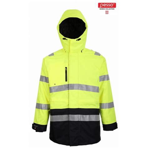 Augstas redzamības ziemas jaka Montreal, dzeltena/tumši zila M, Pesso - Hi-vis ziemas jakas