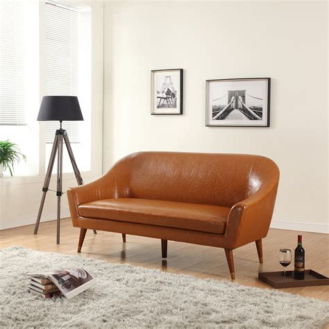 Modern Leather Furniture by Divano Roma Furniture Mid Century Modern Sofa Bonded